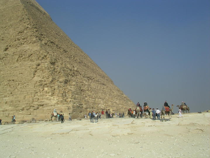 Pyramid and people